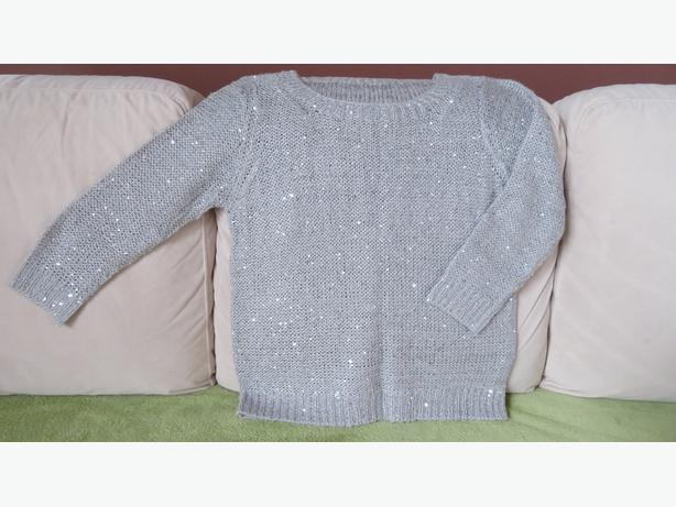Light gray sweater with sequins