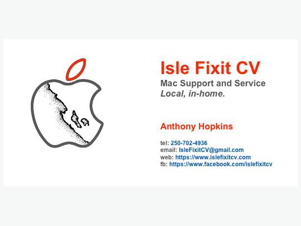 Isle Fix It CV