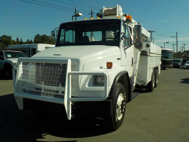 2002 Freightliner FL80 Crane Truck w/ Air Brakes