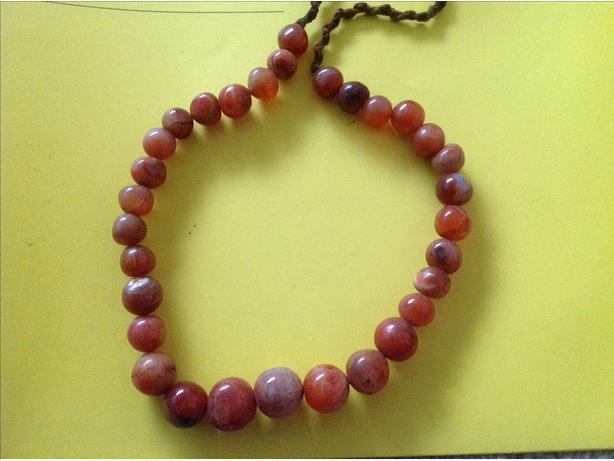 Antique? 31 LARGE OLD CARNELIAN BEADS - from Himalayan region