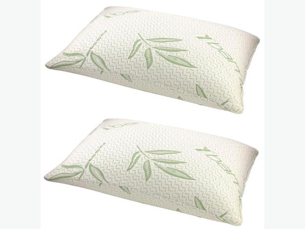 Queen Size Bamboo Memory Foam Bed Pillow Set of 2 Brand New