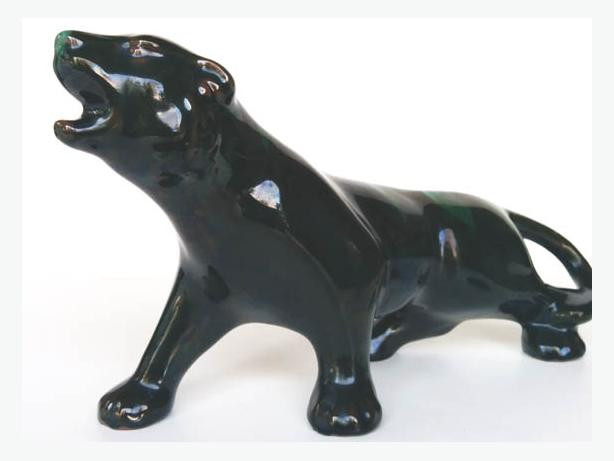 Vtge Panther with Green Accent, red eyes
