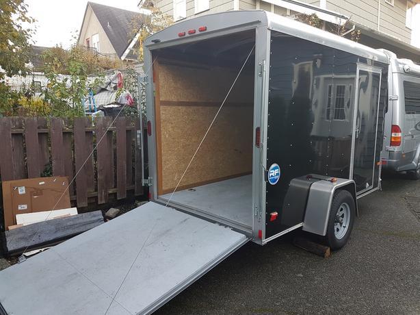 Top Quality!  Wells Cargo trailer - 6x10, ramp rear door