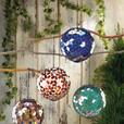 Hanging Solar Mosaic Glass Ball Ornament Red Blue Green Multi-Color 2Lot Choice