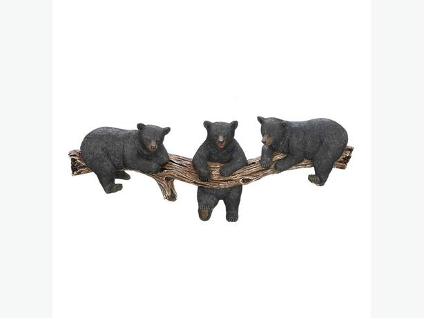 Black Bear Figurine Wall Hooks & Towel Ring 4PC Mixed Lot Brand New