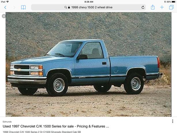WANTED: WANTED:1996 to 1998 Chev or GMC