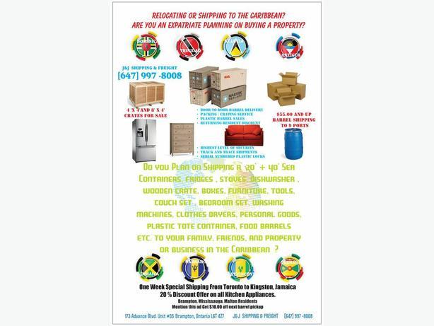 Xmas Barrel Shipping to Jamaica & the Caribbean [ 647] 997-8008