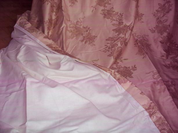 Royal sateen bedroom curtains with hardware in 4 panels