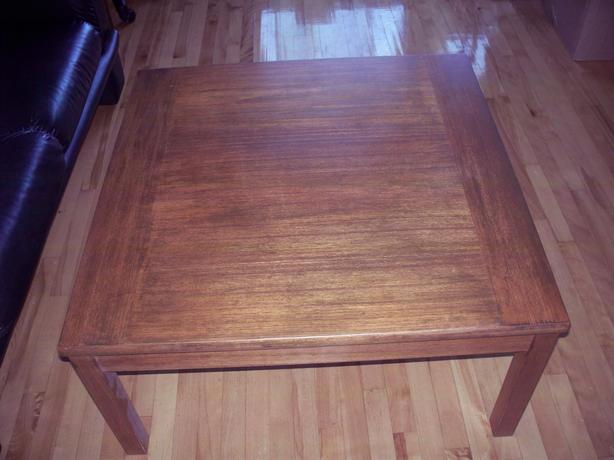 teak coffee table square