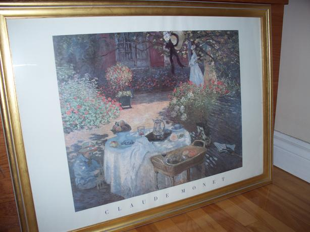 Claude Monet framed print with gold frame