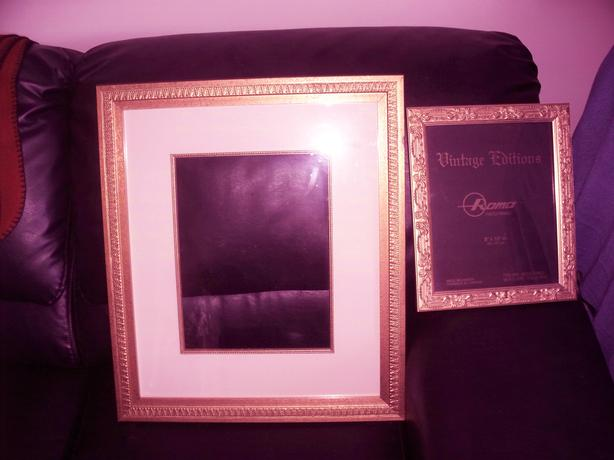 gold coloured frames