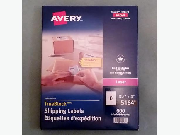 Avery Shipping Labels - Box of 600 – Brand New – Never Opened