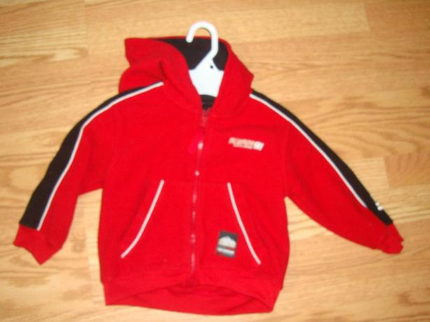 Like New Nevada Red Embroidered Fleece Coat Size 4 - $3