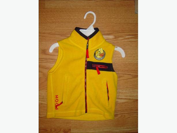 Like New Winnie the Pooh Yellow Fleece Vest Coat Size 4  - $3