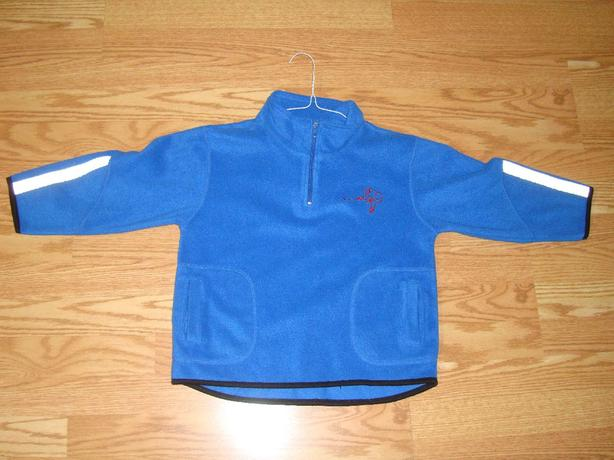 Like New Blue Fleece Coat with Safety Reflectors Size 6 / Small - $3