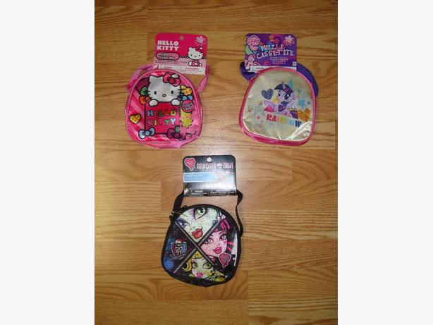 New Fabric Purses / Puzzle Monster High, My Little Pony Hello Kitty - $8 each