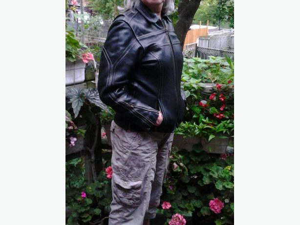 Leather jacket Akoury