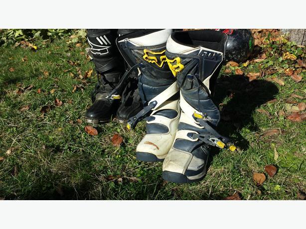 Pants, Helmets, boots.