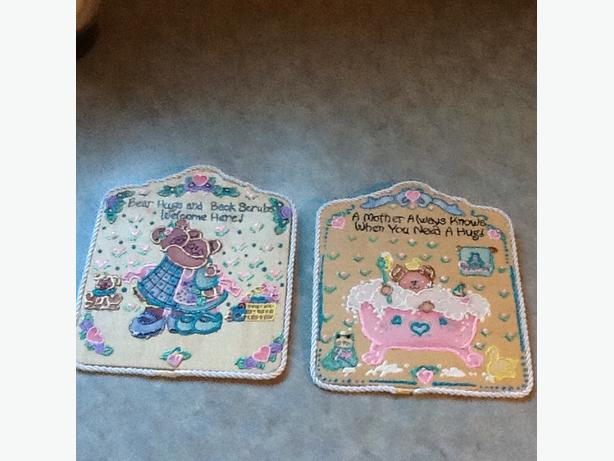 wooden nusery plaques, so cute!