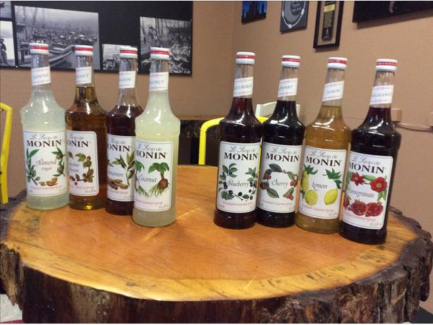 Monin Coffe and Italian Soda Syrup $13 each or 2 for $25