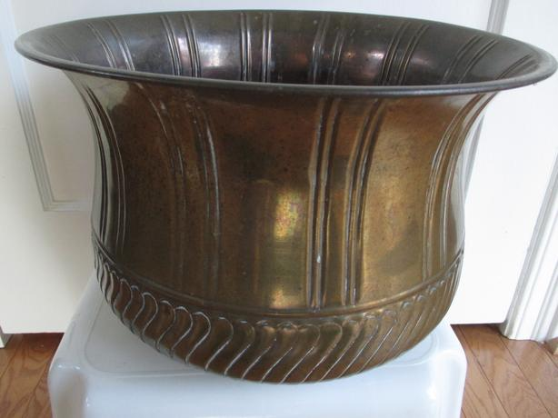 All Brass Large Plant Pot
