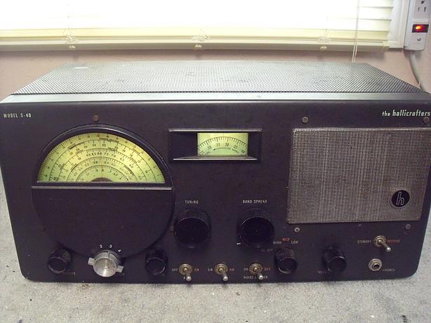 Hallicrafters Short Wave Radio Receiver S-40 vintage