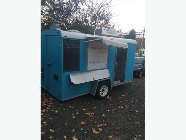 Mobile food trailer. hotdogs.