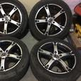 4 Alloy rims on tires 205/55/16 rated mud&snow