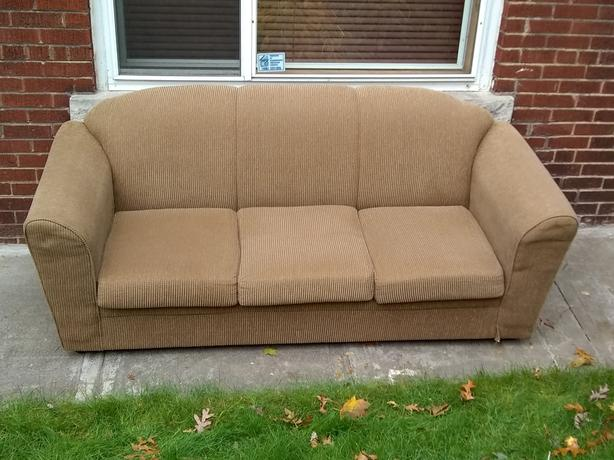 Chenille (Corduroy) Couch - High Park North - Bloor West Village