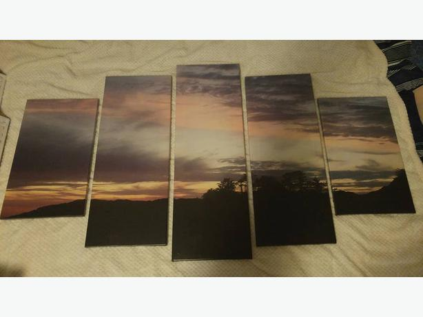 5 Panel Canvas Art