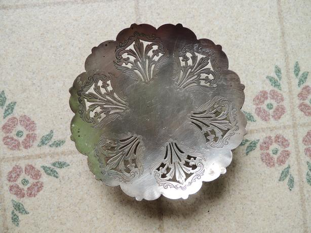 FOOTED SILVER PLATE