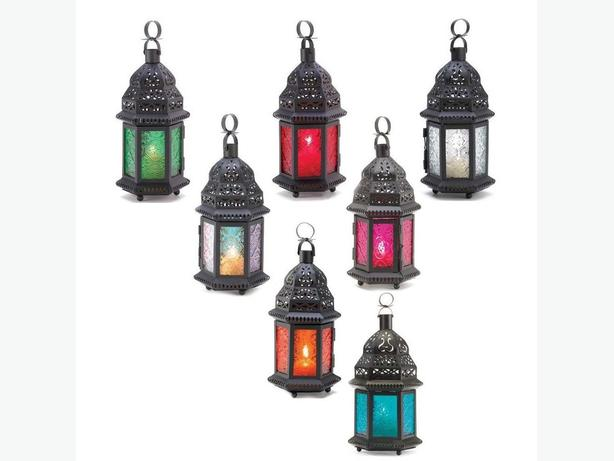 Candle Lantern Blue Red Green Clear Multi-Color Amber Pink Purple 6 Lot Choice
