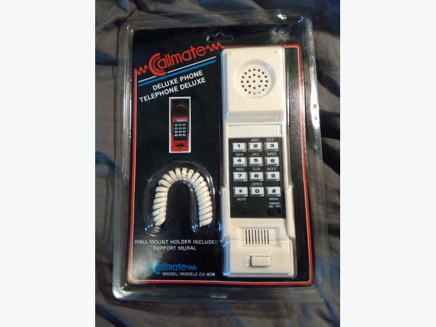 Cool Retro Vintage Deluxe Wall Mount Phone