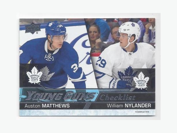 20 Auston Matthews And William Nylander Rookie Card Great Gift