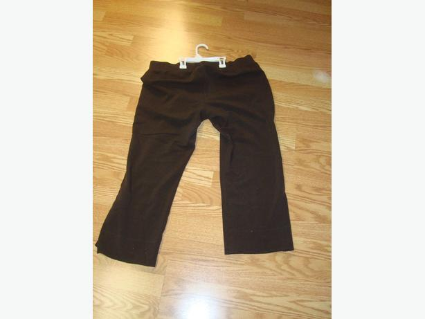 Like New Maternity Pants Brown Dress Elastic Waist Size M - $10