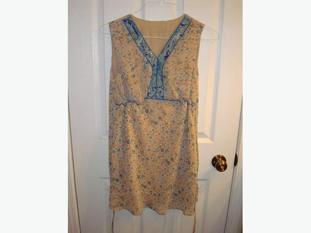 New Maternity Top Tank Beige Blouse Embroidered Size S_M  $15