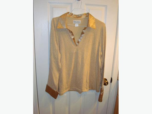 Like New Top Blouse Sweater Gold Plus Size 2XL or Maternity - $15