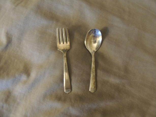 TWO PIECE BABY CHILD SPOON AND FORK