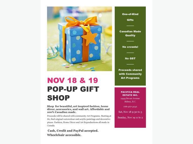 Pop-Up Gift Shop - 2444 Bevan Avenue, Sidney