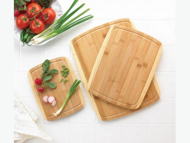 Bamboo Cutting Boards &  Copper-Coated Stainless Steel Knife Set