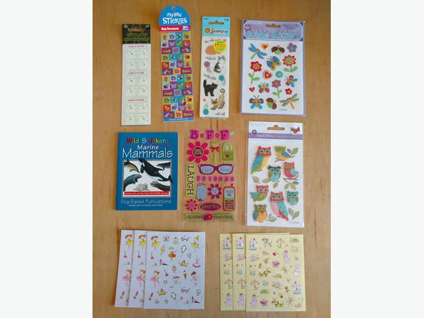 New stickers, great for teachers, birthday prizes, etc