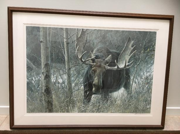 ROBERT BATEMAN The Challenge Bull Moose