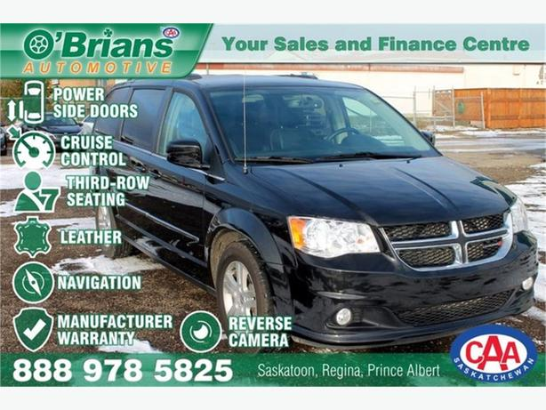 2016 Dodge Grand Caravan Crew Plus w/Mfg Warranty, Leather, Nav