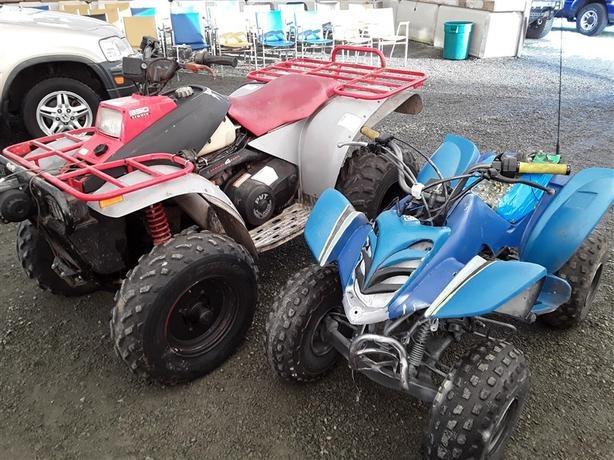 Full Size Polaris and Small Yamaha Quads
