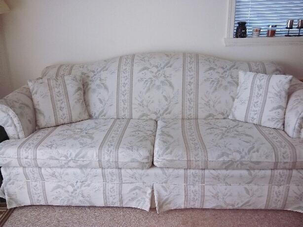 Lightly coloured sofa