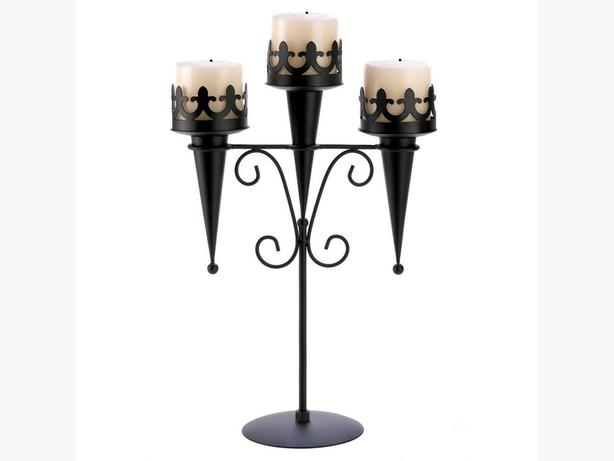 Gothic Medieval Torch-Style Candleholder Candelabra Centerpiece Stand 4Lot