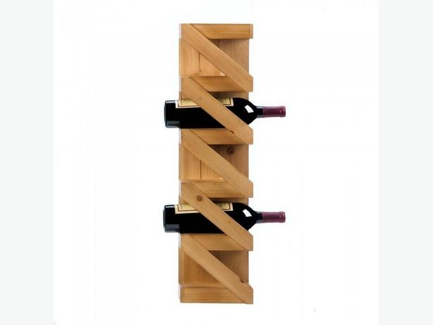 Wine Bottle Holder Rack Wall-Mount 3 Styles Choice Brand New Wood