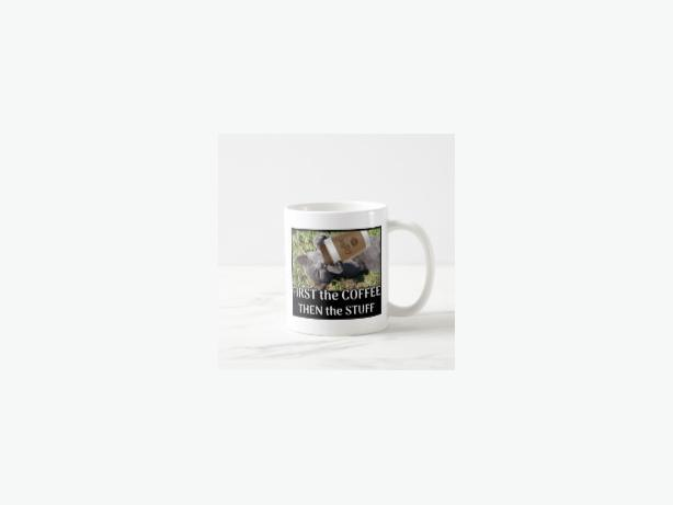 FIRST the Coffee Coffee Mug, NEW DESIGN!