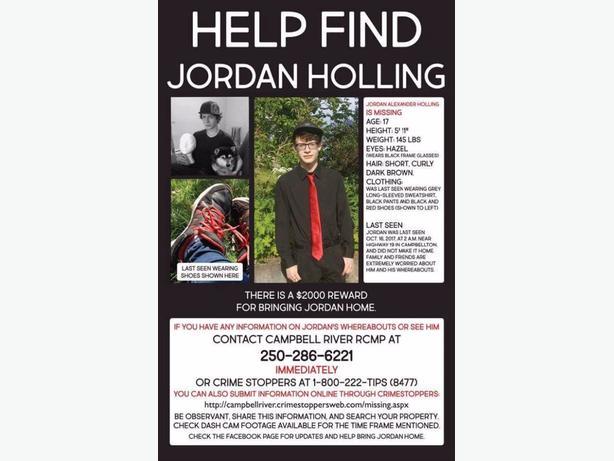 MISSING TEEN - JORDAN HOLLING