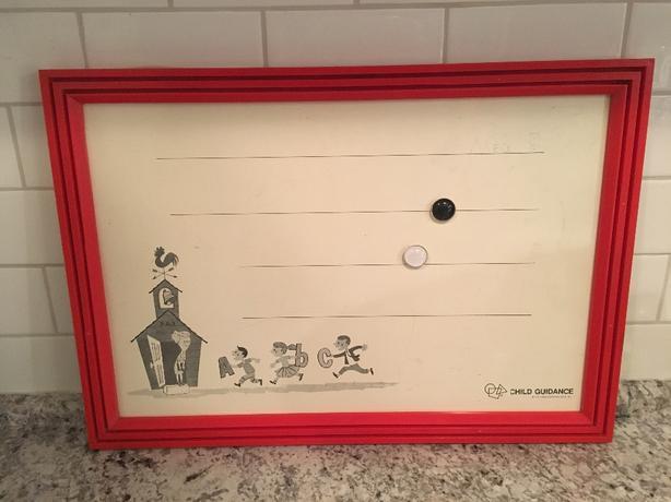 Vintage Child's Magnetic Board